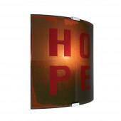 Hope Höhe 26,5 cm rot 1-flammig rechteckig
