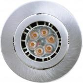 Einbaustrahler Ø 7 cm metallisch 1-flammig rund