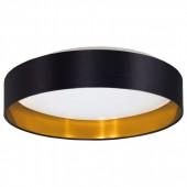 Maserlo, LED, Ø 40,5 cm, Schwarz-Gold