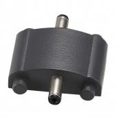 Pipe Verbinder Länge 3,2 cm schwarz halbrund