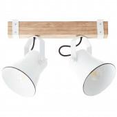 Plow Breite 40 cm weiß 2-flammig rund