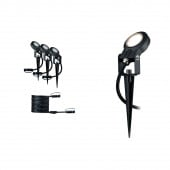 Outdoor Plug & Shine Spot Sting 3er-Set anthrazit 1-flammig rund