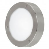 Vento 2, LED, IP44, Ø 18,5 cm, metallisch