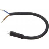 Anschlusskabel Mini Länge 20 cm schwarz rund