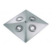 Pyramid Breite 34 cm metallisch 4-flammig pyramidenförmig B-Ware