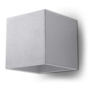 Quad 1 Breite 12 cm metallisch 2-flammig quaderförmig