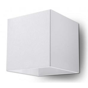 Quad 1 Breite 12 cm weiß 2-flammig quaderförmig