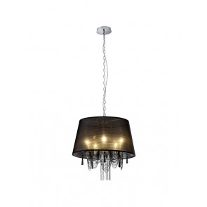 Chiara, E14, IP20, 5-flammig, schwarz