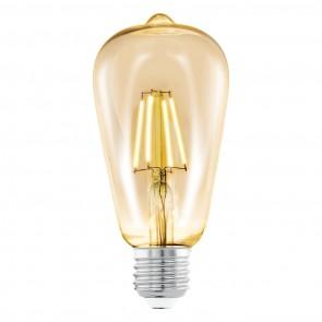E27, LED, ST64, 4W, Amber, 2200K,  Ø 64 mm, Länge 140 mm