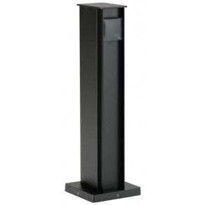 Steckdosensäule Höhe 50 cm schwarz 2 Steckdosen quaderförmig