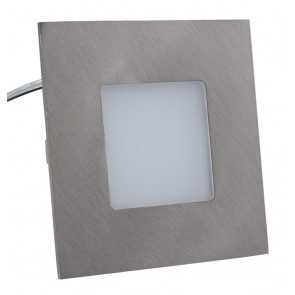 LED Panel, 75x75mm, warmweiß, Edelstahl-Optik