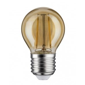 LED Tropfen 4,5W E27 Gold 2500K dimmbar