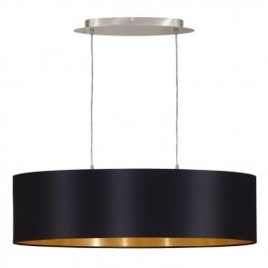Maserlo, Länge 78 cm, schwarz-gold