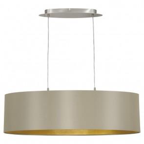 Maserlo, Länge 78 cm, Taupe-Gold