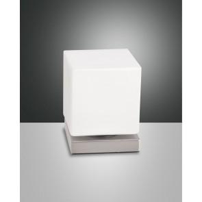 Brenta LED, Nickel satiniert, geblasenes Glas, weiß, 540lm, 6W