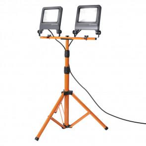 Tripod Höhe 180 cm orange 2-flammig rechteckig