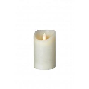 Flame weiß 8 x 12,5 cm Echtwachs