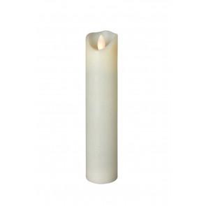 SHINE LED 5x22,5 elfenb,schmal Echtwachs mit Timer, Fernbedienung exkl.