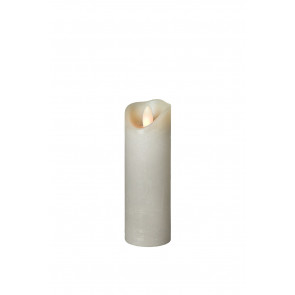SHINE LED 5x17,5 grau schmal Echtwachs mit Timer, Fernbedienung exkl.