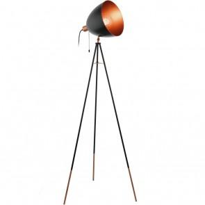 Chester, Höhe 135,5 cm, schwenkbar, schwarz-kupferfarben