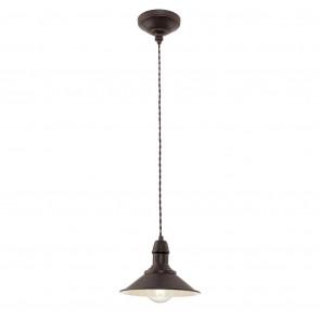 Stockbury, E27, IP20, 1-flammig, Ø 21 cm, braun