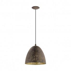 Safi, 1-flammig, Ø 27,5 cm, braun/gold