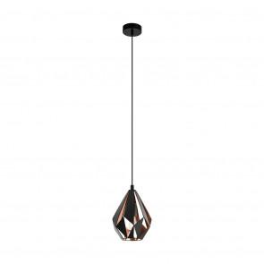 Carlton 1, E27, Höhe 110 cm, schwarz-kupfer