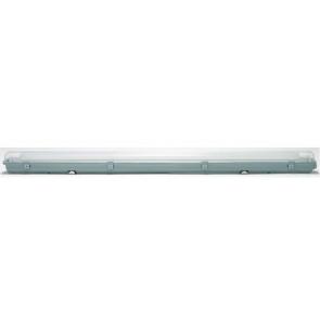T8 Wannenleuchte Aqua-Promo Fluo Länge 126,3 cm grau 1-flammig rechteckig