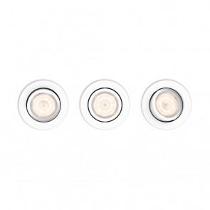 Shellbark, rund, weiß, WarmGlow, 3er-Set
