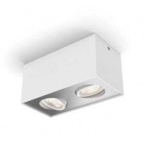 Box, LED, IP20, 2-flammig, dimmbar, weiß