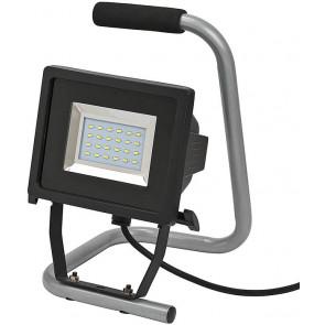 Mobile SMD-LED-Leuchte Höhe 31 cm grau 1-flammig eckig