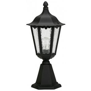 Sockelleuchte Höhe 53 cm schwarz 1-flammig zylinderförmig