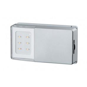 SnapLED, mit Schalter, Batterie-/Akkubetrieb, silber