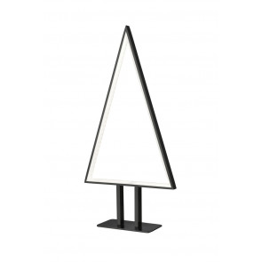 Pine Höhe 50 cm schwarz 1-flammig dreieckig