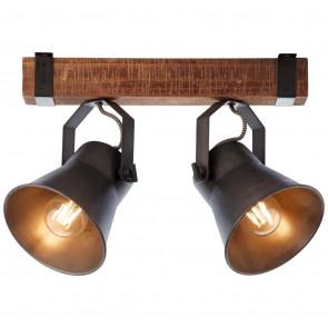Plow Breite 40 cm schwarz 2-flammig rund