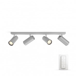 Buratto, LED, 4flg., 1000lm, Aluminium, inkl. Dimmschalter