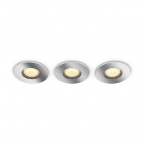 White Amb. Adore 3er-Set Ø 9,4 cm chrom 1-flammig rund