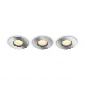 White Amb. Adore chrom/silber 3x350lm Dimmschalter rund