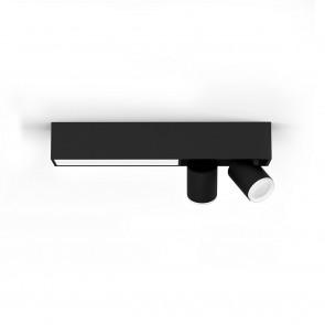 White & Col. Amb. Centris Länge 40,8 cm schwarz 2-flammig rechteckig