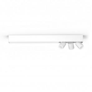 White & Col. Amb. Centris Länge 78,2 cm weiß 3-flammig quaderförmig