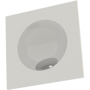 Zarate 8 x 8 cm weiß 1-flammig quadratisch
