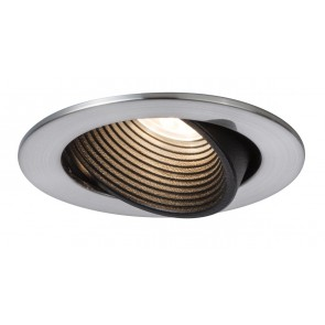Prem EBL Helia rund schwb LED 2700K8,7W 700mA 92mm Nickel geb Schw m Alu Acr