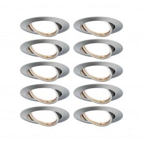 EBL Base 10er-Set Ø 9 cm metallisch 1-flammig rund
