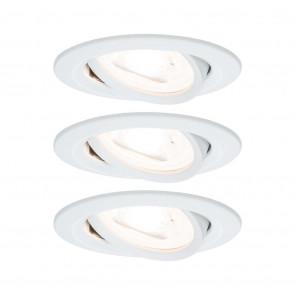 Nova, GU10, IP23, schwenkbar, 3er-Set, rund, weiß