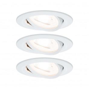 Nova, rund, 3x6,5W, GU10, weiß-matt, 3-Stufen-dimmbar, LED