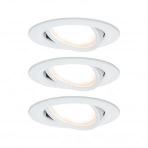 Nova 3er-Set Ø 8,4 cm weiß 1-flammig rund