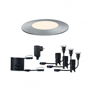 Plug & Shine Mini Set, LED, IP65, dimmbar, silber