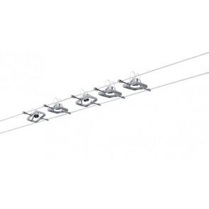 Mac II GU5,3 Länge 10m chrom 5-flammig quadratisch