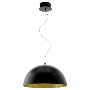 Gaetano, LED, Ø 53 cm, schwarz-gold