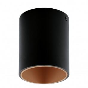 Polasso, LED, Ø 10 cm, schwarz-kupfer